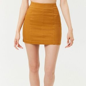 pacsun mustard yellow skirt